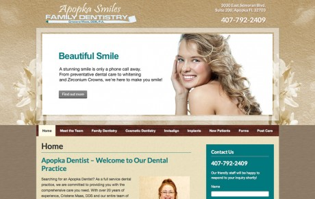 Apopka Smiles Family Dentistry | Portfolio | Orange Rock Media