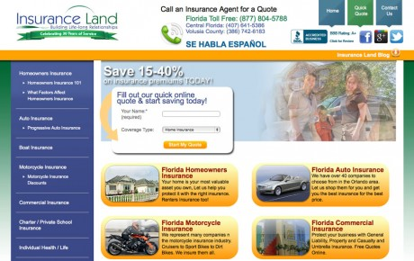 Insurance Land Florida | Portfolio | Orange Rock Media