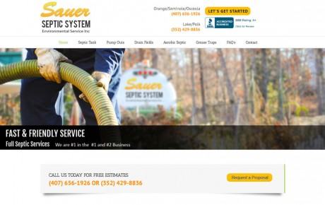 Sauer Septic System Environmental Service | Portfolio | Orange Rock Media